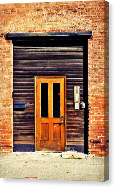 Warehouses Canvas Print - Door by HD Connelly