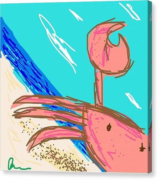 Ocean Animals Canvas Print - #drawsomething #drawsomethingcool by Kidface Anbessa-Ebanks