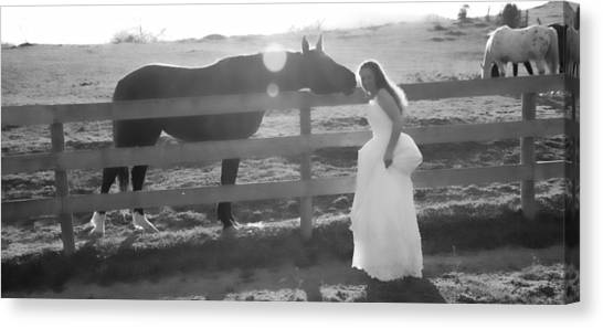 Wedding Gown Canvas Print - Dress 32 by Betsy Knapp