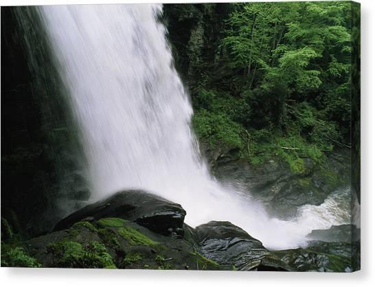 Cullasaja Falls Canvas Print - Dry Falls On Cullasaja River by Gordon Wiltsie