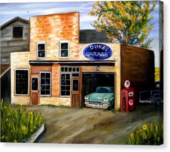 Duke's Garage Canvas Print