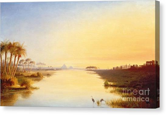 The Nile Canvas Print - Egyptian Oasis by John Williams