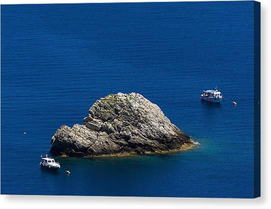 Elba Island - One Island Two Boats - Ph Enrico Pelos Canvas Print