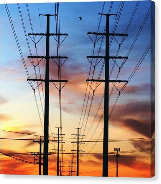 Igdaily Canvas Print - Electric Sunset by James Granberry