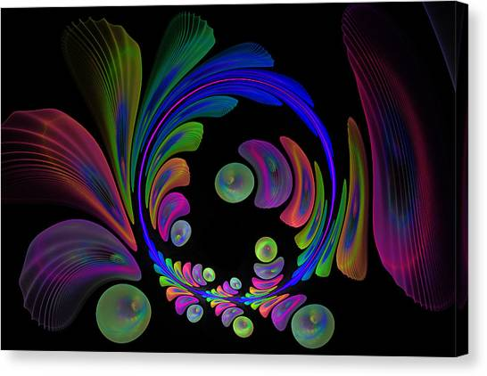 Electric Wreath Canvas Print