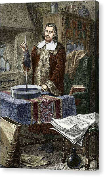 Evangelista Torricelli, Italian Physicist Canvas Print by Sheila Terry