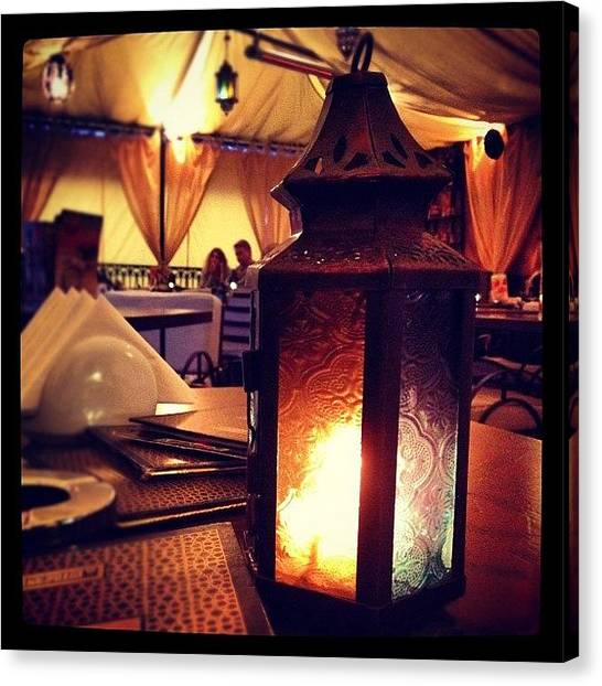 Lounge Canvas Print - #evening #girlsnight #friends #talk by Anna P
