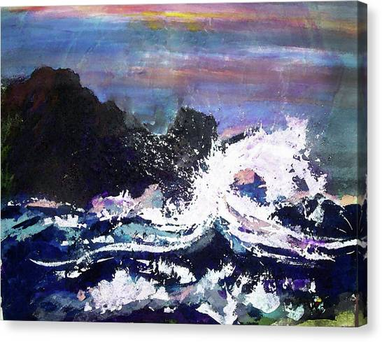 Evening Wave Canvas Print by Valerie Wolf