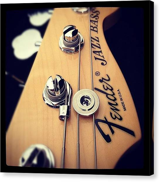 Largemouth Bass Canvas Print - #fenderjazz #bass by Stu Brierley