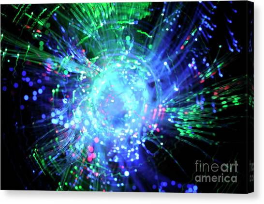 Fiber Optic Swirl Canvas Print by Sami Sarkis