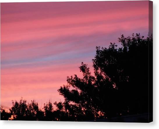 Fiery Sky Canvas Print by Amy Holmes