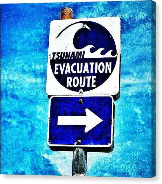 Tsunamis Canvas Print - Finally On The Pacific Coast! by Chris Bechard