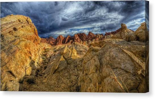 Valley Of Fire Canvas Print - Finland by Stephen Campbell