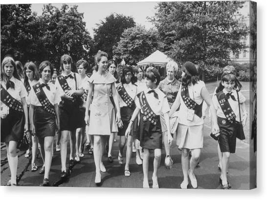Girl Scouts Canvas Print - First Daughter, Julie Nixon Eisenhower by Everett