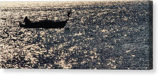 Angling Canvas Print - Fisherman by Stelios Kleanthous