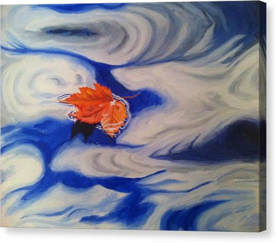 Floating Leaf Canvas Print