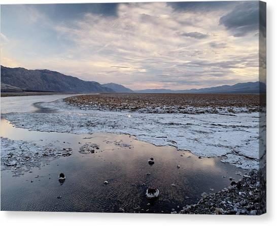 Flooded Salt Flat Canvas Print by Bob Gibbons