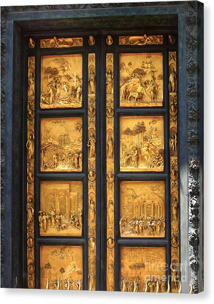 Florence Italy - Baptistry Doors Canvas Print