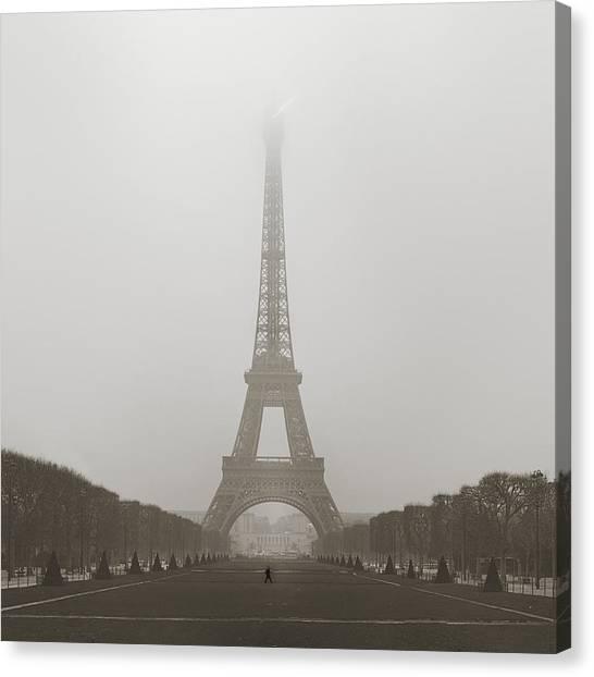 Foggy Morning In Paris Canvas Print