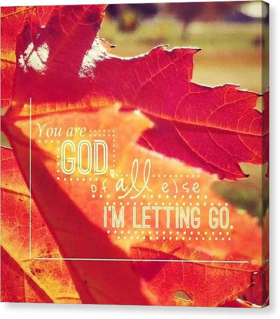 Autumn Leaves Canvas Print - Forever Reign // Hillsong United • by Traci Beeson