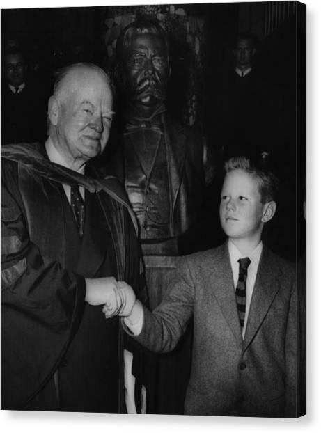New York University Canvas Print - Former President Herbert Hoover by Everett