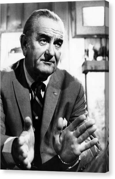 Former President Lyndon Johnson Canvas Print by Everett