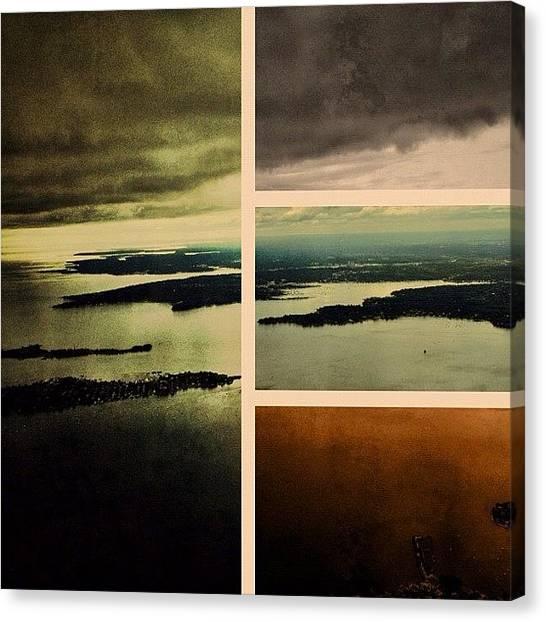 Skylines Canvas Print - Framed Flight by Natasha Marco