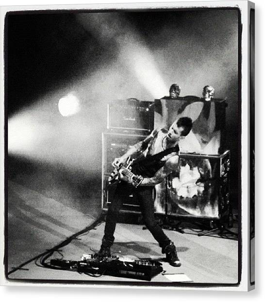 Guitars Canvas Print - Franti by Erik Jorgensen