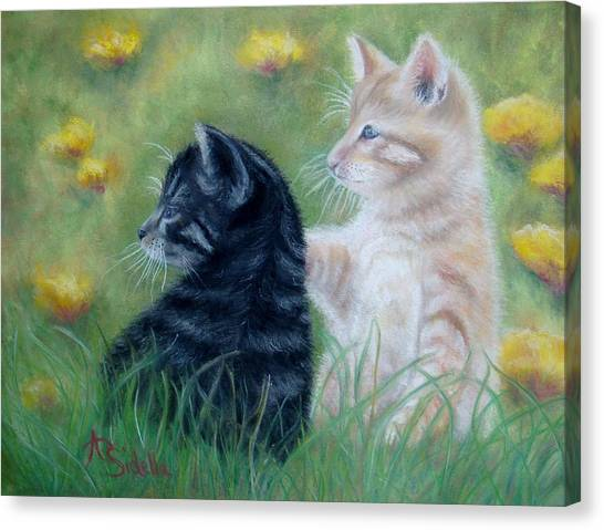 Frisky Friends Canvas Print