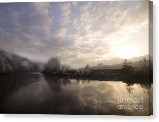 Frosty Morning Canvas Print by Angel Ciesniarska
