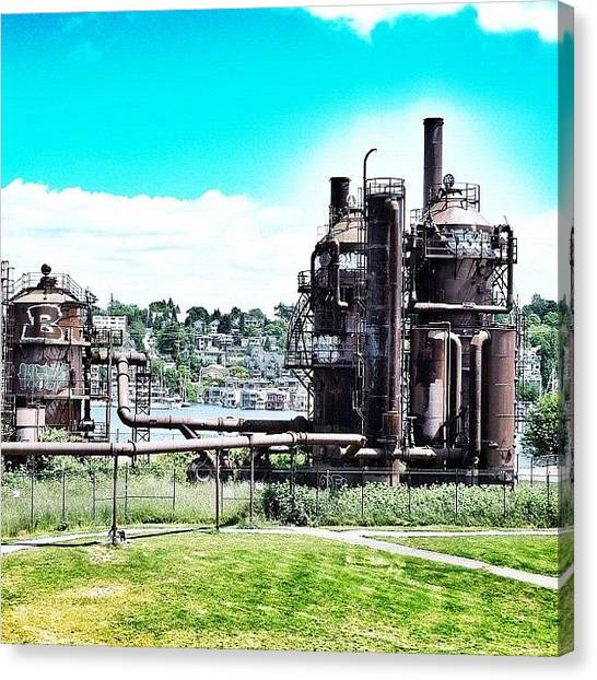 Seattle Canvas Print - Gasworks Park by T Catonpremise