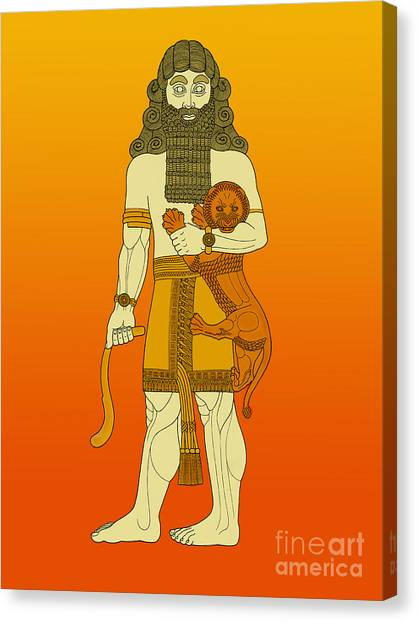 Iraq Canvas Print - Gilgamesh, King Of Uruk by Photo Researchers