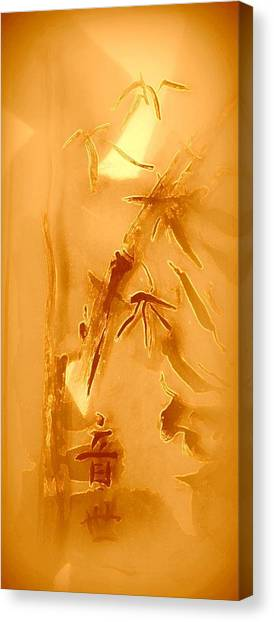 Golden Bamboo Canvas Print by Wendy Wiese