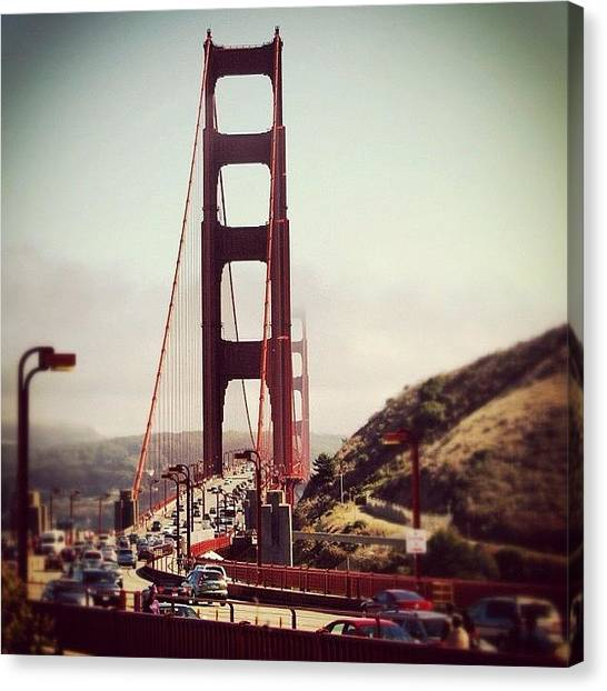 Roads Canvas Print - Golden Gate by Luisa Azzolini