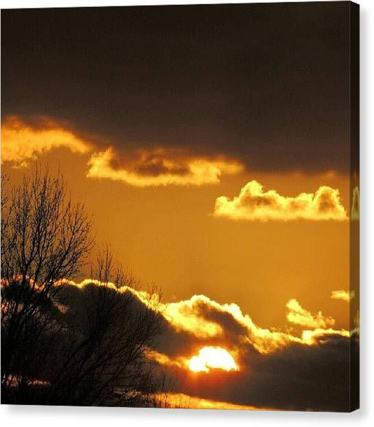 Arkansas Canvas Print - Golden Sunset by Kelli Stowe