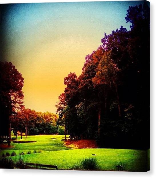 Golf Canvas Print - Golf by Katie Williams