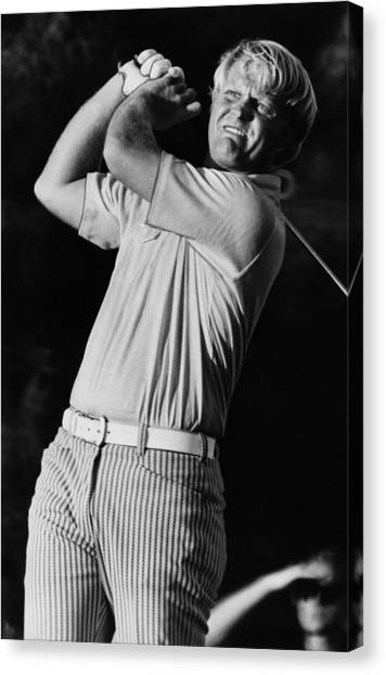 Jack Nicklaus Canvas Print - Golf Pro Jack Nicklaus, C. 1970s by Everett