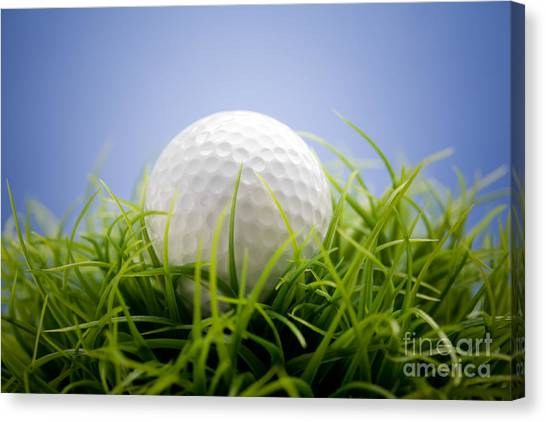 Golfball Canvas Print