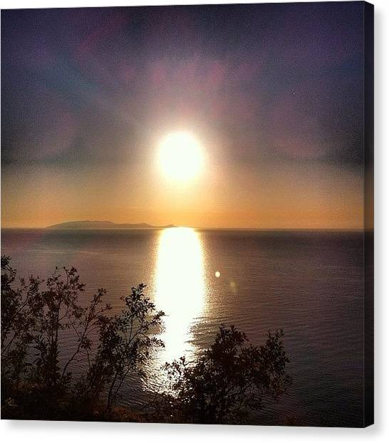 Greece Canvas Print - Good Morning by Spyros Papaspyropoulos