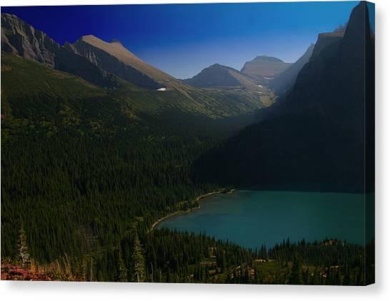 Grinnell Lake Glacier National Park Canvas Print