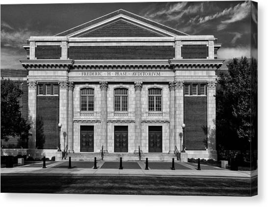 Eastern Michigan University Canvas Print - Halls Of Knowledge  by Rachel Cohen