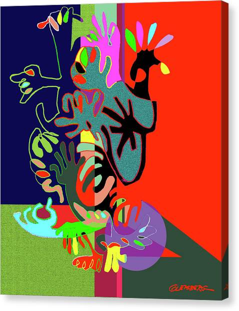 Hand Bush Canvas Print