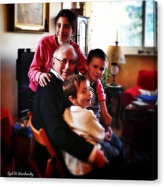 Grandpa Canvas Print - #happy #grandpa by Eyal Warshavsky