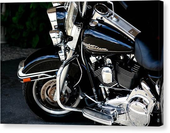 Harley Davidson  Canvas Print by Karen Scovill