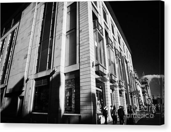 Harvey Nichols Store St Andrew Square Edinburgh Scotland Uk United Kingdom Canvas Print by Joe Fox