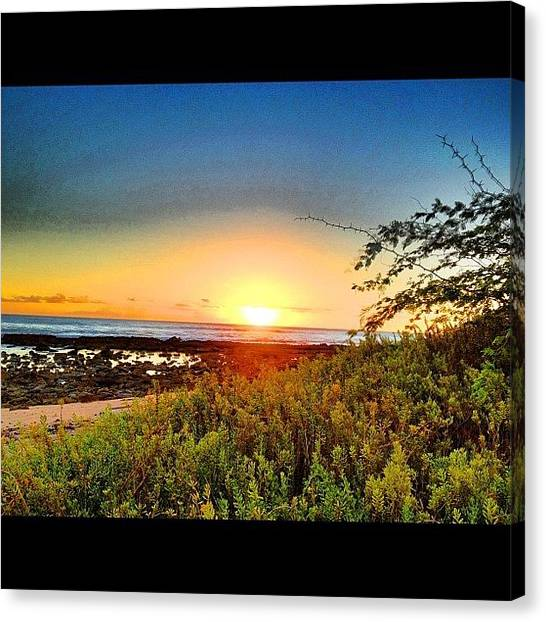 Satellite Canvas Print - #hawaii #honolulu #sky #stream #sunset by Andy Walters