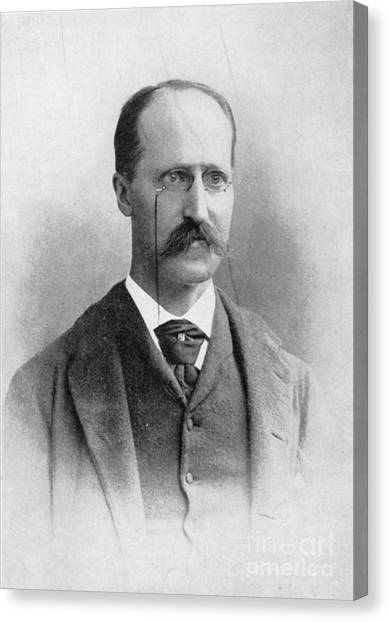 Johns Hopkins University Canvas Print - Henry Rowland, American Physicist by Science Source