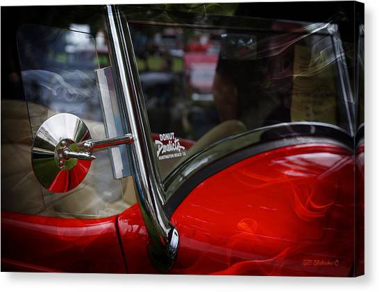 Hot Rod Red Ford Canvas Print by SM Shahrokni