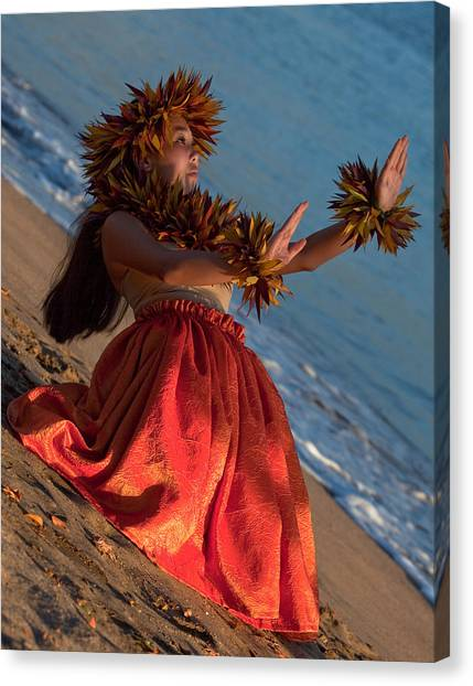 Hula Girl Canvas Print