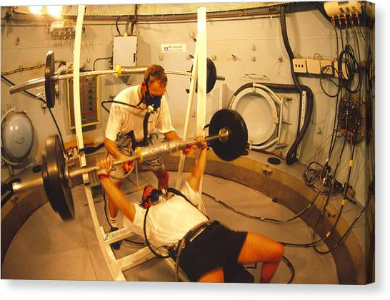 Chamber Pot Canvas Print - Hyperbaric Training Research by Alexis Rosenfeld